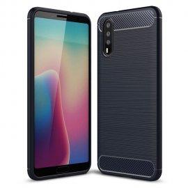 Funda Huawei P20 Pro Gel Hybrida Cepillada Negra