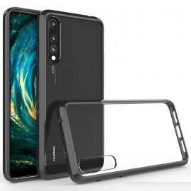 Funda Huawei P20 Pro Hybrid Transparente con bordes Negro