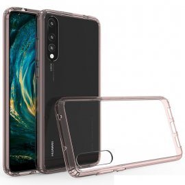 Funda Huawei P20 Pro Hybrid Transparente con bordes Rosa