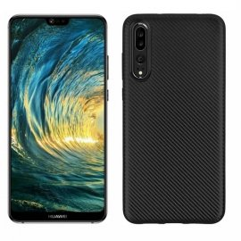 Funda Huawei P20 Pro TPU Fibra Carbono Negra