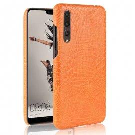 Carcasa Huawei P20 Pro Cuero Estilo Croco Naranja