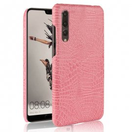 Carcasa Huawei P20 Pro Cuero Estilo Croco Rosa