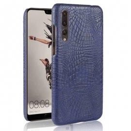 Carcasa Huawei P20 Pro Cuero Estilo Croco Azul