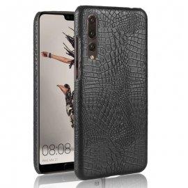 Carcasa Huawei P20 Pro Cuero Estilo Croco Negra