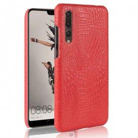 Carcasa Huawei P20 Pro Cuero Estilo Croco Roja