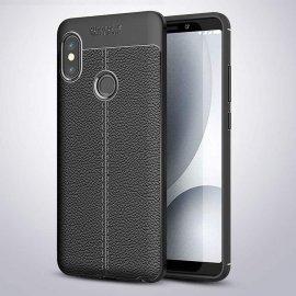 Funda Xiaomi Redmi Note 5 Pro Tpu Cuero 3D Negra