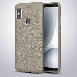 Funda Xiaomi Redmi Note 5 Pro Tpu Cuero 3D Gris