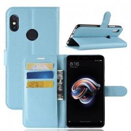 Funda Libro Xiaomi Redmi Note 5 Pro Soporte Azul