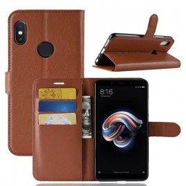Funda Libro Xiaomi Redmi Note 5 Pro Soporte Marron