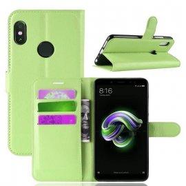 Funda Libro Xiaomi Redmi Note 5 Pro Soporte Verde