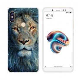 Funda Xiaomi Redmi Note 5 Pro Gel Dibujo Leon