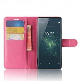 Funda cuero Flip Sony Xperia XZ2 Rosa