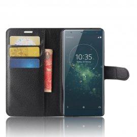 Funda cuero Flip Sony Xperia XZ2 Negro