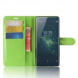 Funda cuero Flip Sony Xperia XZ2 Verde