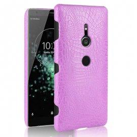 Carcasa Sony Xperia XZ2 Cuero Estilo Croco Rosa