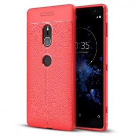 Funda Sony Xperia XZ2 Tpu Cuero 3D Roja