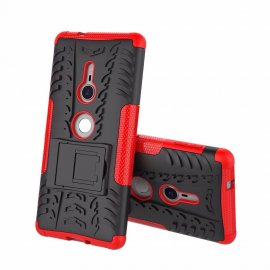 Funda Sony Xperia XZ2 Armadura Resistante Roja