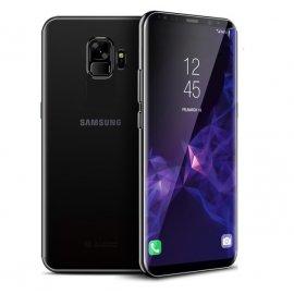 Funda Gel Galaxy S9 con Esquinas Cromados Negra
