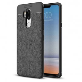 Funda LG G7 Tpu Cuero 3D Negra