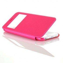 Funda cuero Flip Iphone 6 Rosa