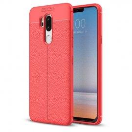 Funda LG G7 Tpu Cuero 3D Roja