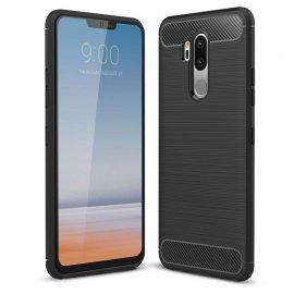 Funda LG G7 Gel Hybrida Cepillada Negra