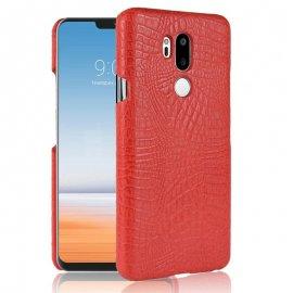 Carcasa LG G7 Cuero Estilo Croco Rojo
