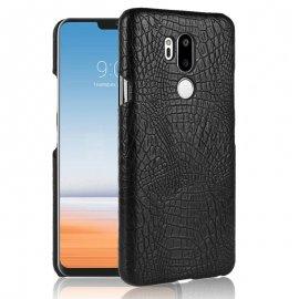 Carcasa LG G7 Cuero Estilo Croco Negra