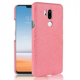 Carcasa LG G7 Cuero Estilo Croco Rosa