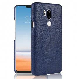 Carcasa LG G7 Cuero Estilo Croco Azul