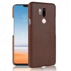 Carcasa LG G7 Cuero Estilo Croco Marron