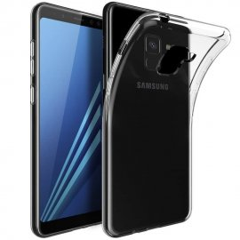 Funda Gel Samsung Galaxy A8 Plus 2018 Transparente Fexible y lavable