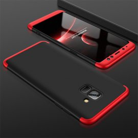 Funda 360 Samsung Galaxy A8 Plus 2018 Negra y Roja