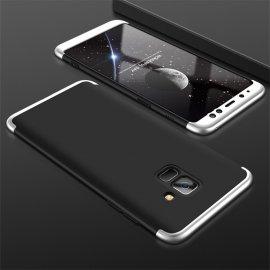 Funda 360 Samsung Galaxy A8 Plus 2018 Negra y Gris