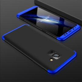 Funda 360 Samsung Galaxy A8 Plus 2018 Negra y Azul