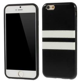 Funda Iphone 6 Gel Cuero Negra