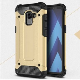 Funda Galaxy A8 Plus 2018 Shock Resistante Dorada