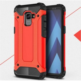 Funda Galaxy A8 Plus 2018 Shock Resistante Roja