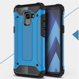 Funda Galaxy A8 Plus 2018 Shock Resistante Azul