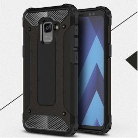 Funda Galaxy A8 Plus 2018 Shock Resistante Negra
