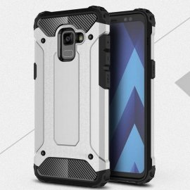 Funda Galaxy A8 Plus 2018 Shock Resistante Gris