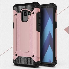 Funda Galaxy A8 Plus 2018 Shock Resistante Rosa