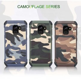 Funda Galaxy A8 Plus 2018 Shock Resistante Camuflaje