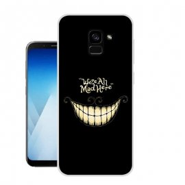 Funda Samsung Galaxy A8 Plus 2018 Gel Dibujo Sonrisa