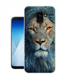 Funda Samsung Galaxy A8 Plus 2018 Gel Dibujo Leon