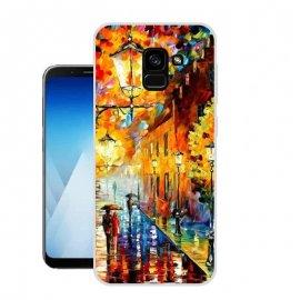 Funda Samsung Galaxy A8 Plus 2018 Gel Dibujo Cuadro