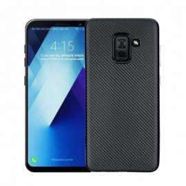 Funda Samsung Galaxy A8 Plus 2018 Gel Carbono Negra