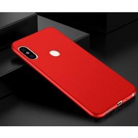 Funda Gel Xiaomi Mi A2 Flexible y lavable Mate Roja
