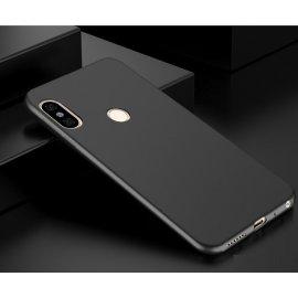Funda Gel Xiaomi Mi A2 Flexible y lavable Mate Negra
