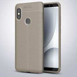 Funda Xiaomi Mi A2 Tpu Cuero 3D Gris